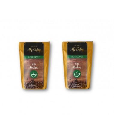 100GR MyCoffee Gold Arabica Filtre Kahve  X 2 ( Premium Özel Lezzet ! French Press & Ev tipi makine kullanımına uygun )