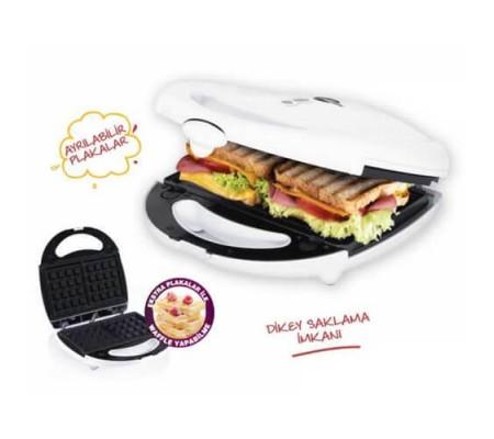 Gm-7427 Enfes Tost Makinesi - Waffle Plakalı! ( Sahurda Tost İftarda Waffle! Çifte Lezzet Ramazanda Enfes İle Bir Arada!)