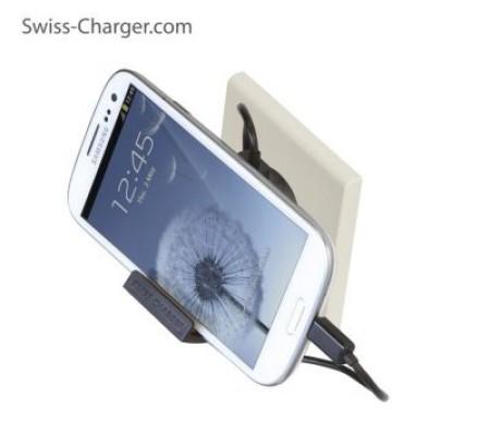 Swiss Charger Sch-20022 Ecomax Unıv.Şarj Cihaz+Kab ( Samsung Şarj Kablosu Hediye!  - Usb Çıkış Ünitesi Tüm Telefonlar ile uyumlu! )