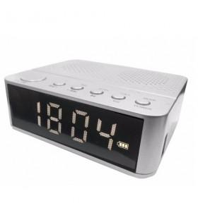 Waker Bluetooth Radyolu Alarmlı Dijital Saat ( Beyaz )