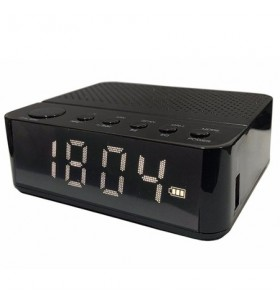 Waker Bluetooth Radyolu Alarmlı Dijital Saat ( Siyah )