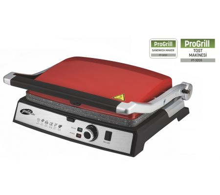 PT-3203 ProGrill Izgara ve Tost Makinesi + Kahvaltı Tabağı Hediye! ( Yeni Seri - Yeni Teknoloji - 180 Derece açılabilir tasarım ile IZGARA fonksiyonu )
