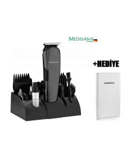 Medisana MD-7801 Play Erkek Bakım Seti + PB-10.000 Powerbank HEDİYE!  -  ( 12 fonksiyonlu erkek bakım seti. 12in1 ve 4 Adet rehber tarak (3, 6, 9, 12mm) )