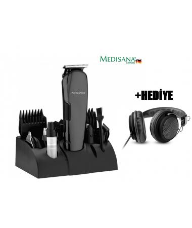 Medisana MD-7801 Play Erkek Bakım Seti + Vivanco Kulaklık HEDİYE!  -  ( 12 fonksiyonlu erkek bakım seti. 12in1 ve 4 Adet rehber tarak (3, 6, 9, 12mm) )