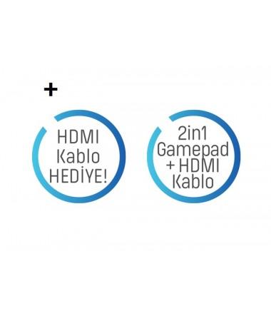GP-355 Oyun Kolu / Joystick  + Üstelik Hediye Hdmi Kablolu / Pc ve PS3  ( Maksimum titreşim, Seçilebilir Turbo Ateş Tuşu, Kolay Tuş Tasarımı )