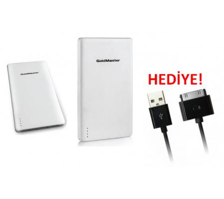 Pb-10000 Taşınabilir Powerbank + Iphone4 / Ipad 2-3 Şarj Kablosu Hediyeli!