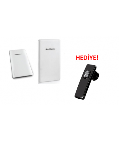 Pb-10000 Taşınabilir Powerbank + HP-1205 Bluetooth Kulaklık Hediye!