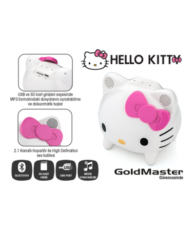 Hello Kitty KT2 USB/SD/Aux Destekli 2.1 Hoparlör