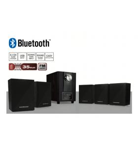 HOME61 Bluetooth Radyolu 5+1 Ses Sistemi / Kablolu Optimus Kulaklık Hediye! ( Yeni Seri & Yeni Teknoloji ! Gerçekçi bass efekti için ahşap kabinli subwoofer )