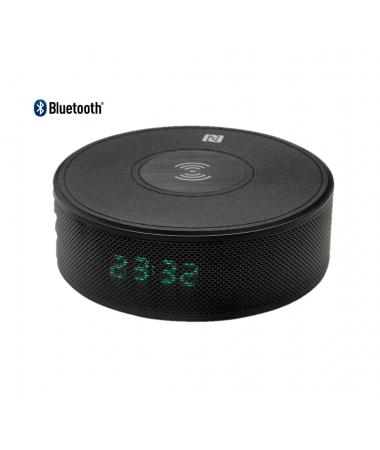 ( YENİ! ) Home Time 90 - Kablosuz Şarj Cihazı ve Bluetooth Hoparlör ( Telefon Görüşmesi Yapabilme,  Dahili Batarya & Dijital/Alarm Saat )