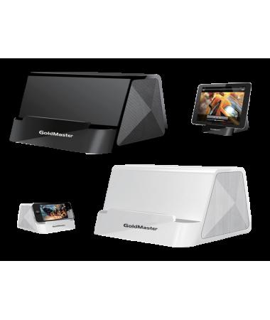 I-desk Mini Taşınabilir Hoparlörlü Kablolu Stand - Dizi ve Maç İzlerken En Büyük Yardımcınız! Tüm Telefon ve Tabletler ile Uyumlu!  ( Siyah )