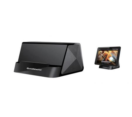 I-desk Mini Taşınabilir Hoparlörlü Kablolu Stand - Videolarınızı İzlerken, Müzik Dinlerken En Büyük Yardımcınız! Tüm Telefon ve Tabletler ile Uyumlu!  ( Siyah )