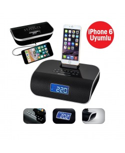 I-Sound Radyolu Hoparlör ( i-phone 5 ve 6/s uyumlu - iPhone cihazınızı şarj edebilme/Müzik dinleyebilme ve Yüksek Kalitede Ses Sistemi! )