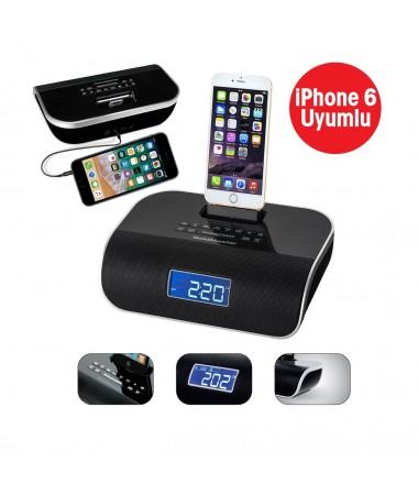 IPhone 5 ve 6/S Uyumlu Deck ( iPhone cihazınızı şarj edebilme/Müzik dinleyebilme ve Yüksek Kalitede Ses Sistemi! )