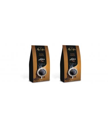 İki Paket My Coffee Filtre Kahve %100 Arabica - Özel Seri & Yoğun Kahve Tadı! ( 100gr x 2 )
