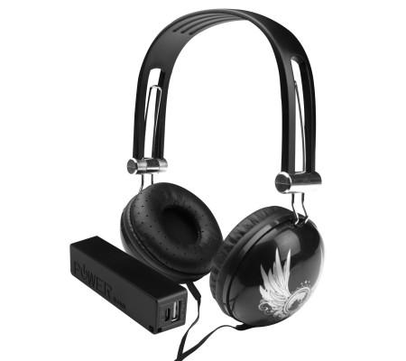 Pro Enjoy Set V12 ( Pro Enjoy Setiniz ile Eğlence Yanı Başınızda! Dayanıklı, Hafif, Esnek,  Siyah Kablolu Kulaklık Üstelik Siyah ve Kırmızı 2600 Mah Powerbank Hediye! )