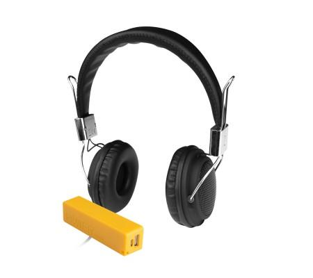 Pro Enjoy Set V5 ( Pro Enjoy Setiniz ile Eğlence Yanı Başınızda! Dayanıklı, Hafif, Esnek, Siyah Kablolu Kulaklık Üstelik Kırmızı ve Sarı 2600 Mah Powerbank Hediye! )