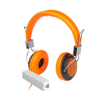 Pro Enjoy Set V1 ( Pro Enjoy Setiniz ile Eğlence Yanı Başınızda! Dayanıklı, Hafif, Esnek, Turuncu Kablolu Kulaklık Üstelik Sarı ve Beyaz 2600 Mah Powerbank Hediye! )