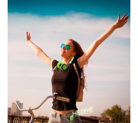 Pro Enjoy Set V2 ( Pro Enjoy Setiniz ile Eğlence Yanı Başınızda!  Dayanıklı, Hafif, Esnek, Yeşil Kablolu Kulaklık Üstelik Yeşil ve Siyah 2600 Mah Powerbank Hediye! )