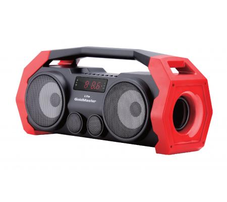 Life Bluetooth Hoparlör ve Radyo ( Kırmızı / Geliştirilmiş Yeni Model! Tüm Akıllı Cihazlar ile Uyumlu! Yüksek Ses Çıkışı, SD, USB, AUX ve Mikrofon Özelliği! )