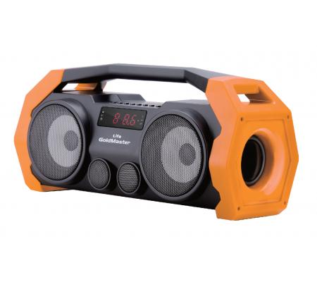 Life Bluetooth Hoparlör ve Radyo ( Turuncu / Geliştirilmiş Yeni Model! Tüm Akıllı Cihazlar ile Uyumlu! Yüksek Ses Çıkışı, SD, USB, AUX ve Mikrofon Özelliği! )