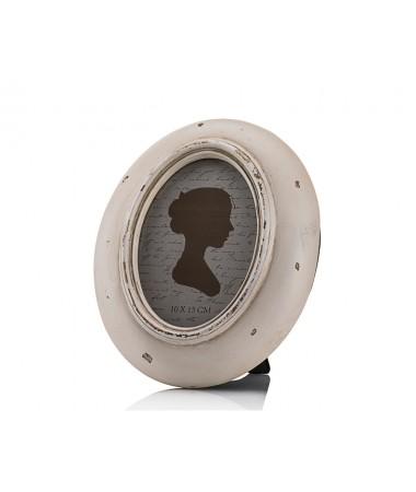 M58-107-Krem Eskitme Oval Çerçeve 10*15
