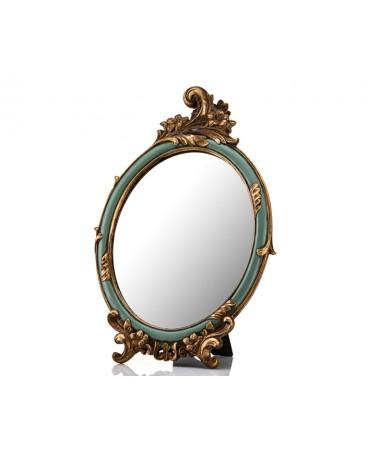 M58-155-Altın Yeşil Ayaklı Ayna 37*24