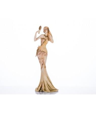 M63-127-Krem El Aynalı Kadın Biblo 34*12