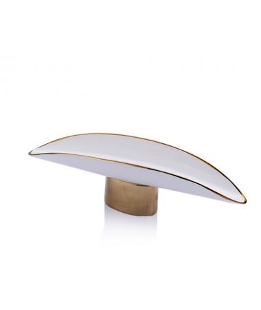 PR20-1022 - Altın- Beyaz Seramik Alt Standlı Servis 44*13