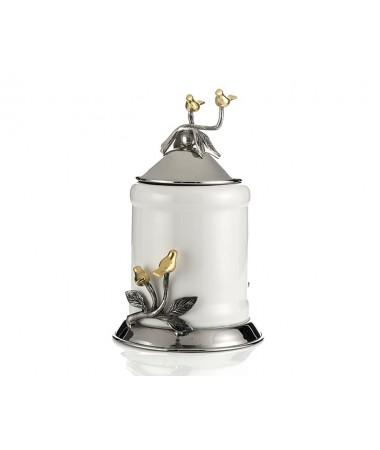 PR78-1007 - Altın Kuşlu Metal Çerçeveli Küçük Kavanoz 24*11
