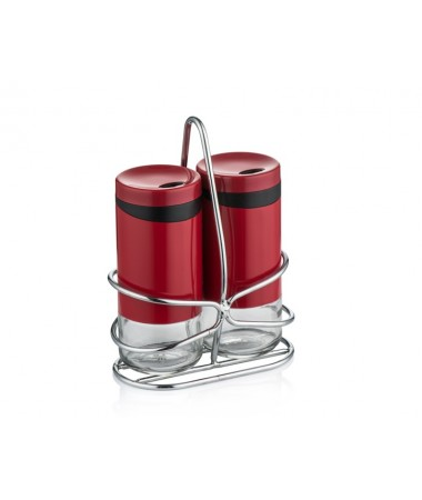 Pr85-1029-Kırmızı Standlı Tuzluk Biberlik