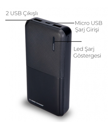 ( TÜKEND İ!! ) Swiss Charger 20000 Powerbank ( Aynı Anda İki Cihaz Şarj Edebilme, İsviçre Swiss Özel Seri - Tüm Tablet Ve Akıllı Telefonlara Uyumlu )