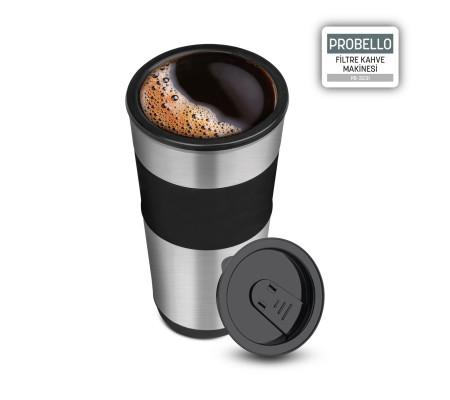 PB-3231 ProBello / Seyahat Bardağı Hediye! ( Dilerseniz Kupada Dilerseniz Seyahat Bardağınız da! Taze Filtre Kahveniz Her Zaman Yanınızda! )