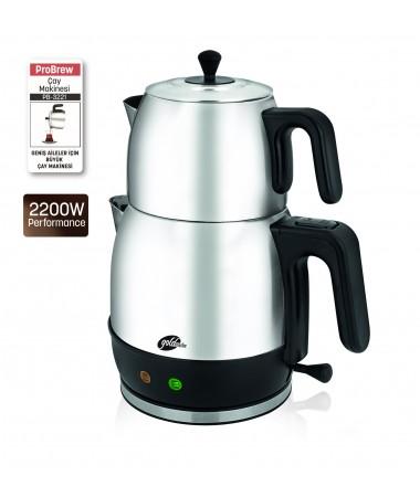 ( TÜKENDİ - YAKINDA YENİDEN STOKLARDA! ) PB-3221 ProBrew Çay Makinesi ( 1,7 LT Kapasitesi ile Geniş Aileler için İdeal & ProBrew ile Daima Sağlıklı Çay Keyfi! )