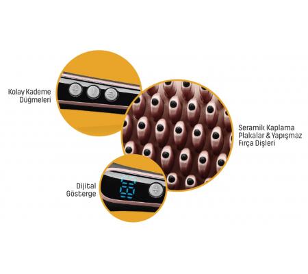 PA-6648 ProBrush Saç Şekillendirici/Düzleştirici Tarak (  Elektriklenmeyi Önleyici Turmalin İyon Teknolojisi! & Koruma ve Parlaklık Bir Arada!  )