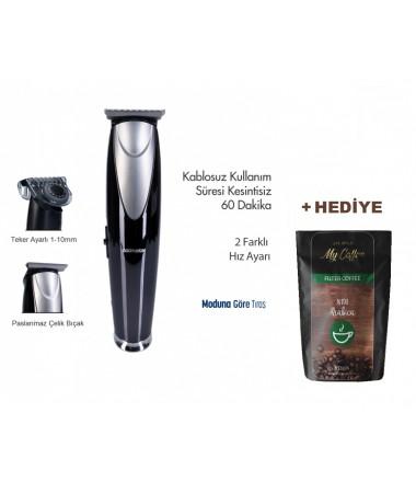 PH-3237 ProClipper Saç ve Sakal Şekillendirme Makinesi  +100 Gr MyCoffee Arabica Filtre Kahve Hediye!  ( 1-10 mm Aralığında Ayar İmkanı Sunan Özel Teker Başlık & Kablolu/Kablosuz Kullanım )
