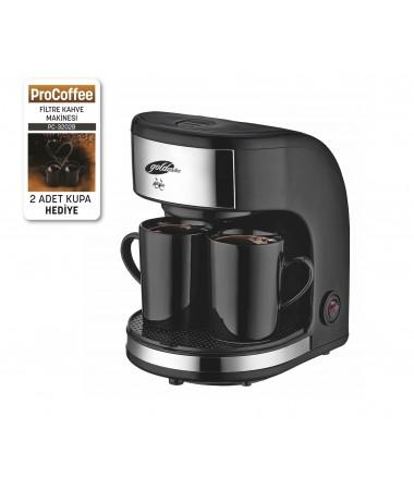 PC-3202 ProCoffee Filtre Kahve Makinesi (  2'li Seramik Kupa Hediye! ProCoffee İle Taze ve Sıcacık Filtre Kahveniz Daima Yanınızda! )