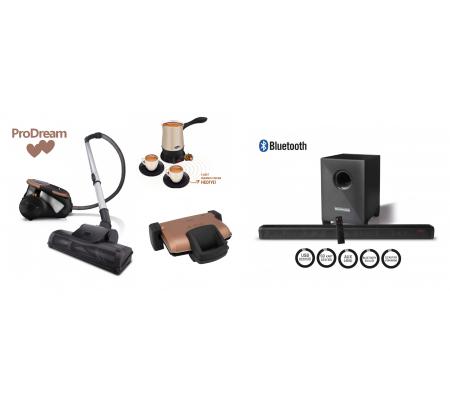 ProDream PLUS Çeyiz Seti ( ProCyclone, Hoş Sohbet, ProToaster ve Bluetooth Woofer Soundbar-  Trend Renkleri İçeren Çizgileri ve Özel Seçkileri ile En Şık Çeyiz Setleri! )