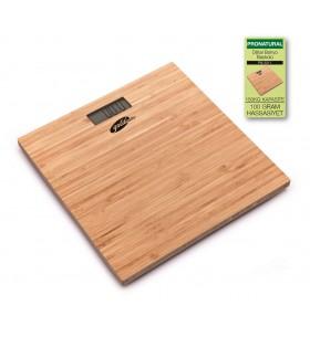 ( TÜKENDİ  - YAKINDA YENİDEN STOKLARDA! )  PN-3211 ProNatural Dijital Bambu Banyo Baskülü ( Geniş Ekran, Ultra Hassas, Bambu Tasarım & 1 Adet Lityum Pil Hediye )