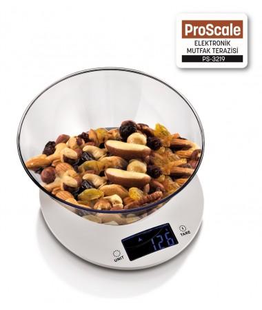 PS-3219 ProScale Elektronik Mutfak Terazisi ( Dokunmatik, Hassas, 5Kg Kapasite & Işıklı Ekran / ProScale ile Dengeli ve Sağlıklı Beslenin! )