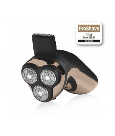 PS-3223 ProShave Tıraş Makinesi ( Ultra İnce Başlıklar, 3 Halka Lazer & Özel Tasarımlı Kıl Yakalama Teknolojisi )