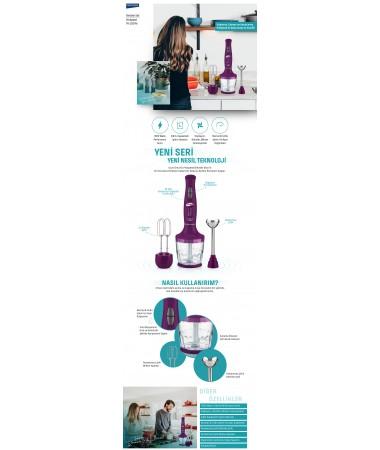 3201M ProSpeed Blender ( Yeni Seri - Yeni Teknoloji!  ) Doğrama, Çırpma ve Karıştırma!