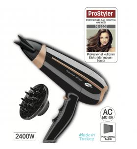PS-3205 ProStyler Profesyonel Saç Kurutma Makinesi ( 2400W Gücü ile Kuaförden Çıkmış Gibi Hissetmeniz Yüksek Performans )