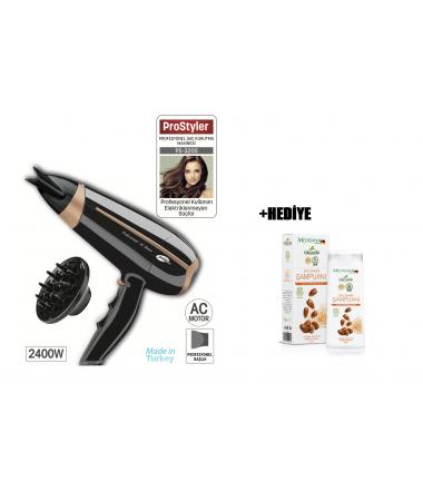 PS-3205 ProStyler Profesyonel Saç Kurutma Makinesi + Argan & Keratemli Şampuan HEDİYE! ( 2400W Gücü ile Kuaförden Çıkmış Gibi Hissetmeniz İçin Yüksek Performans )