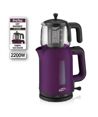 PT-3208 ProTea Çay Makinesi ( 1LT Kapasiteli Sağlıklı Cam Demlik, Extra Geniş Gıda Uyumlu Çay Filtresi, Otomatik Sıcak Tutma Özelliği! )