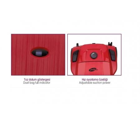 ( TÜKENDİ! ) PW-3204 ProWash Elektrikli Süpürge ( 4 Litre Yıkanabilir Toz Torbası - Hepa Çıkış Filtresi Sağlıklı Kullanım! )
