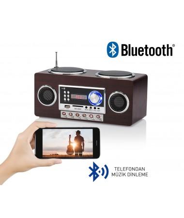 ( TÜKENDİ! ) IDance RetroMax Portable Bluetooth Hoparlör ve Radyo! ( Nostalji Dizayn -  Yeni Seri / Yeni Teknoloji  - RetroMax ile İyi Müzik Artık Her Yerde! )