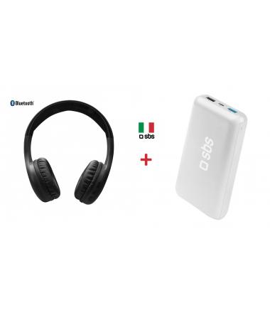 SBS-64986 Kafa Üstü Bluetooth Kulaklık + SBS-62265 20000 Powerbank  ( İtalyan SBS Kalitesi Bir Arada Sizlerle.. )