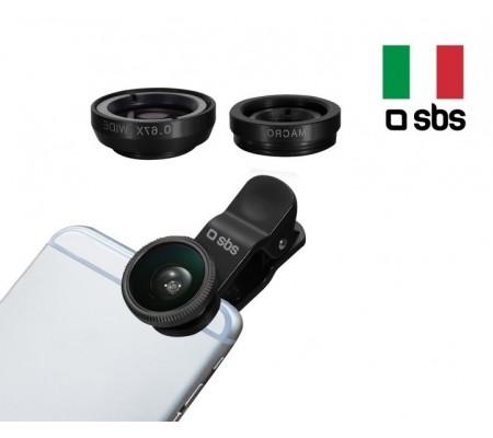 SBS-11256 2 in 1 Universal Lens Kiti ( Telefonunuz Profesyonel Bir Fotoğrafçı Gibi Kullanın! )