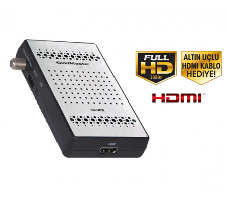 Goldmaster Silver Full HD Uydu Alıcısı ( Kolay ve kullanışlı menü dizaynı + HDMI (High Definition Multimedia Interface )